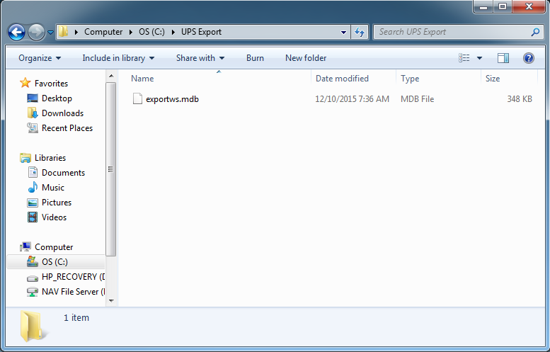 Creating the UPS Export File – Labelmaster Software