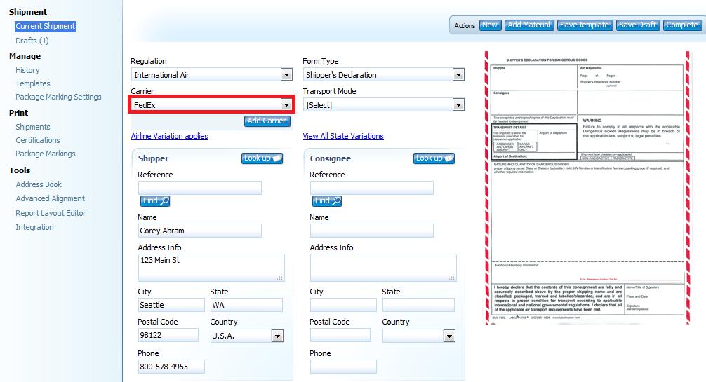 Starting FedEx Air Shipments – Labelmaster Software Knowledge Center